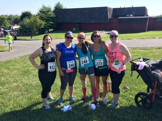 AWESOME ladies! L-R: Danielle, Sara, Me, Julie, Sara.