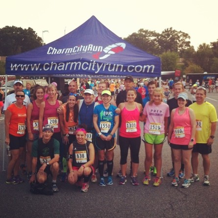 Photo courtesy of Charm City Run. She's in the pink headband literally RIGHT IN FRONT OF ME.