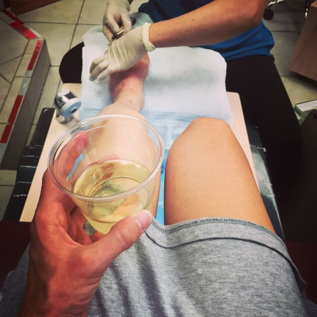 In my opinion, every pedicure should come with wine.